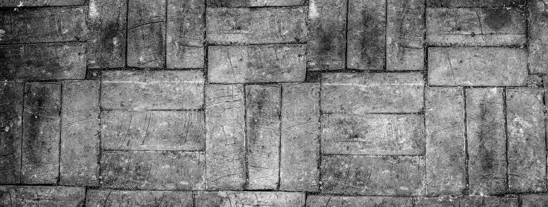 Fundo preto e branco em horizental, fundo do tijolo do tijolo da quebra, espaço da cópia fotografia de stock royalty free