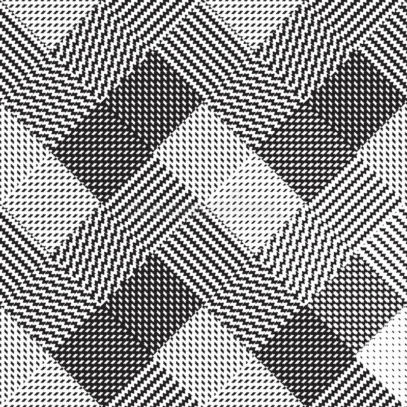 Fundo preto e branco, teste padrão do vetor de pano ilustração royalty free