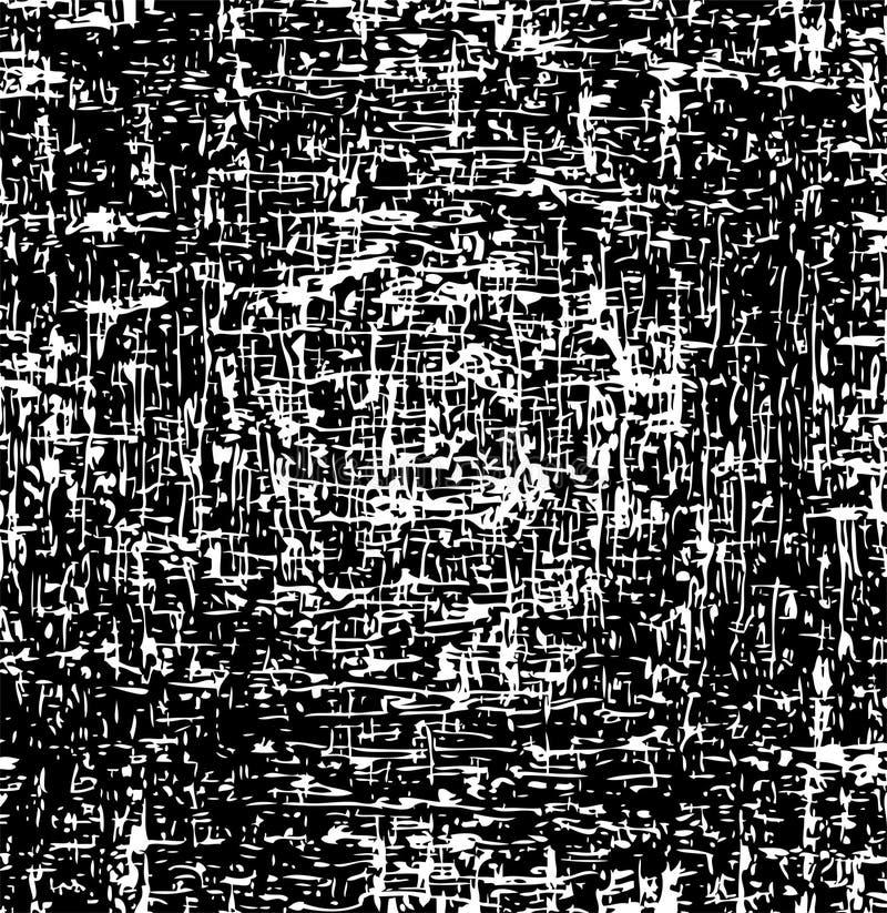 Fundo preto e branco Textura abstrata do grunge ilustração stock