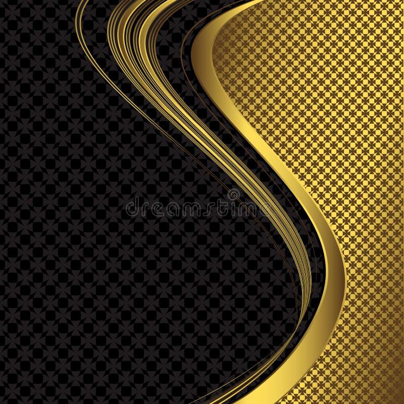 Fundo preto e dourado elegante ilustra o do vetor for Papel de pared dorado