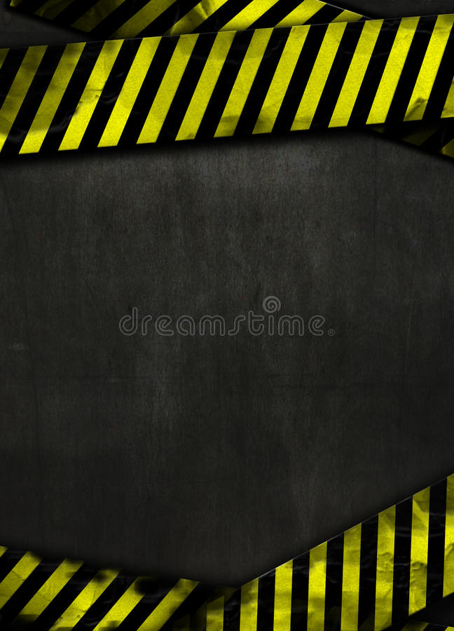Fundo preto e fita amarela foto de stock royalty free