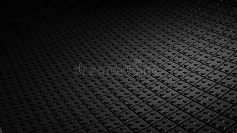 Fundo preto feito de blocos do lego ilustração stock
