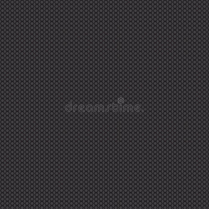Fundo preto geométrico do sumário com hexágonos Vetor ilustração do vetor