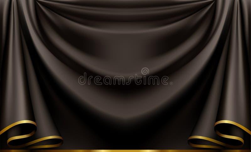 Fundo preto luxuoso ilustração do vetor