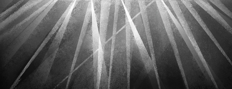 Fundo preto moderno com as listras afligidas e triângulos brancos e cinzentos ilustração stock