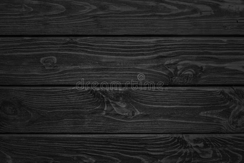 Fundo preto natural queimado da textura de madeira das placas imagens de stock royalty free