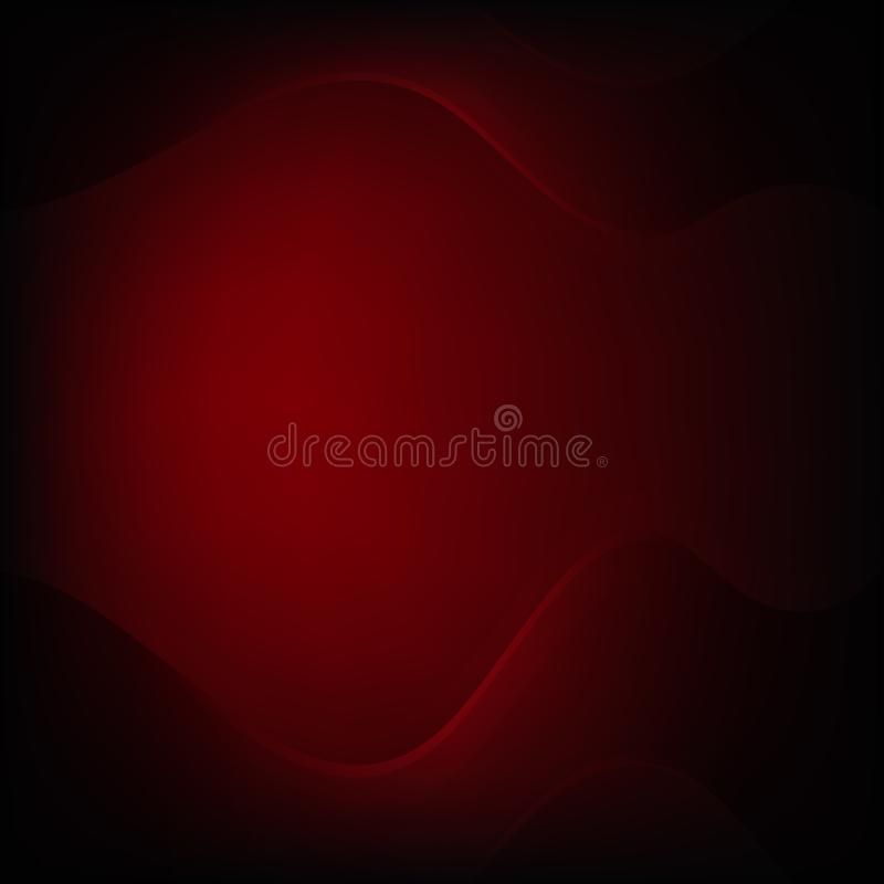 Fundo preto vermelho metálico abstrato do conceito da inovação da tecnologia do projeto da disposição do quadro ilustração do vetor