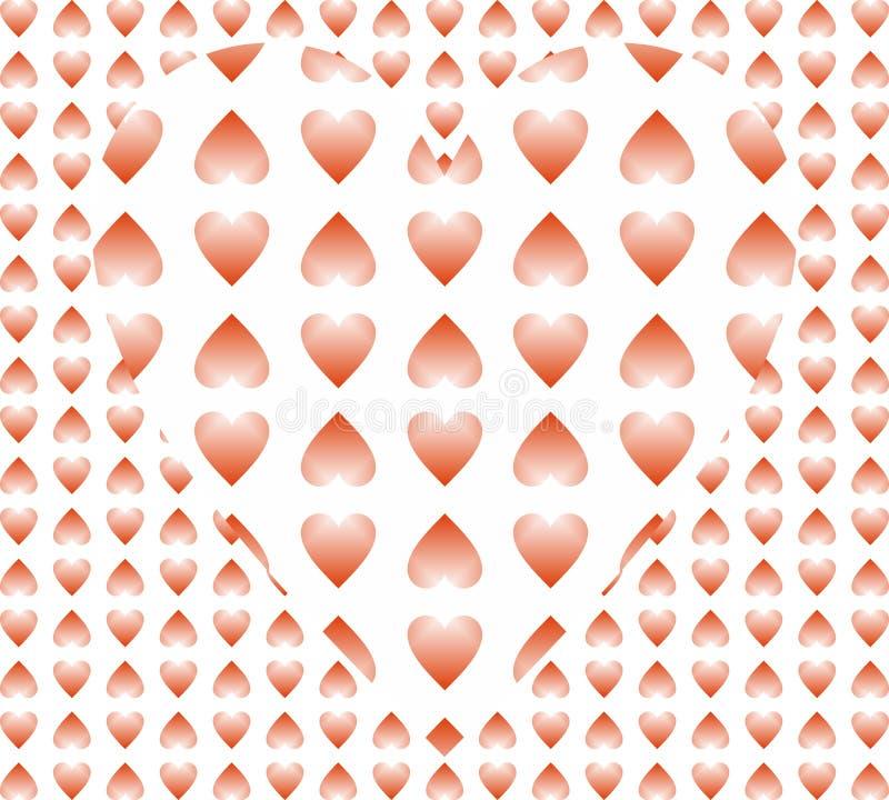 Fundo protegido vermelho bonito do coração que tem o efeito da ilusão 3d nele projeto gerado por computador da ilustração ilustração royalty free