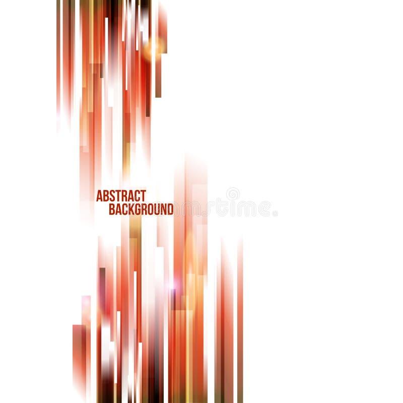 Fundo a prumo das cores quentes abstratas ilustração do vetor