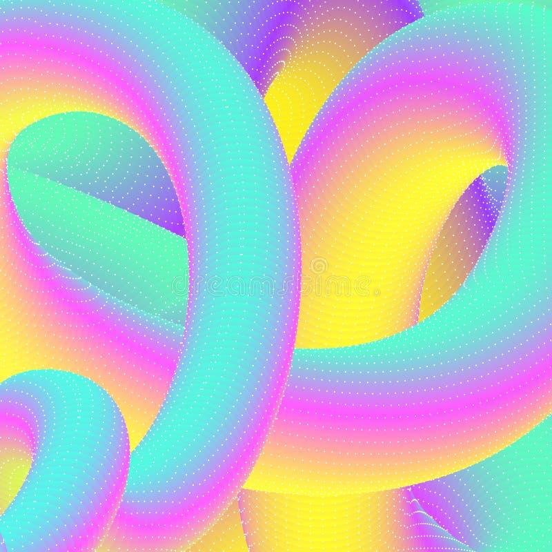 Fundo psicadélico colorido ilustração do vetor