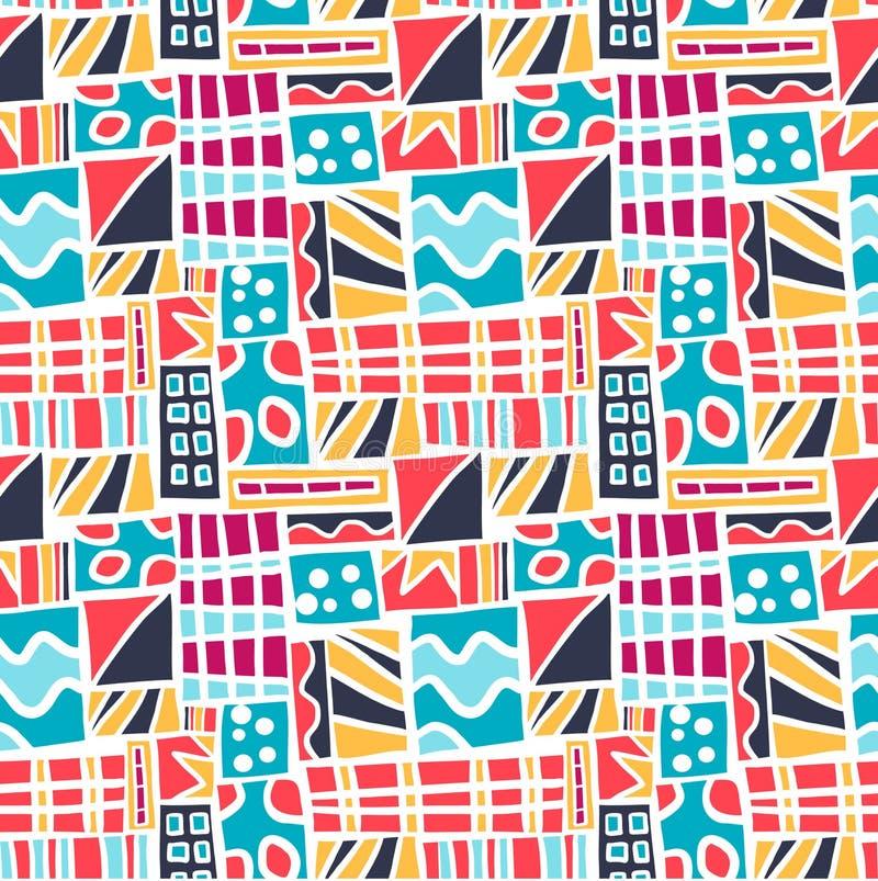 Fundo quadrado abstrato colorido do teste padrão de Seamles fotografia de stock royalty free