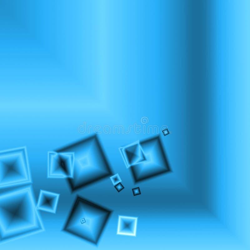 Fundo quadrado azul abstrato ilustração royalty free