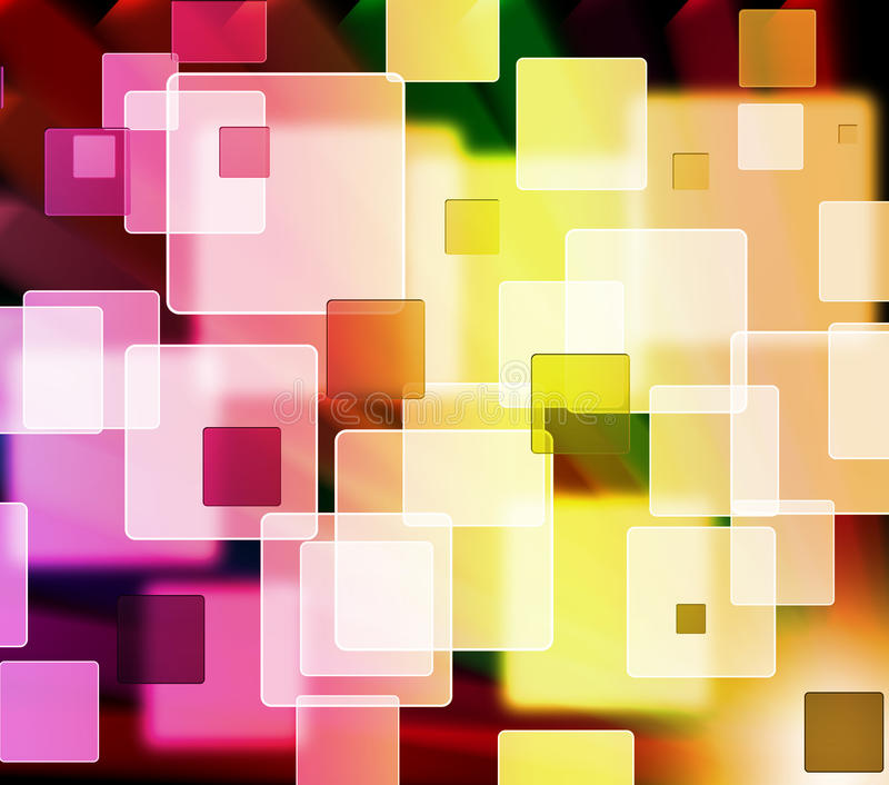 Fundo quadrado colorido abstrato da forma ilustração do vetor