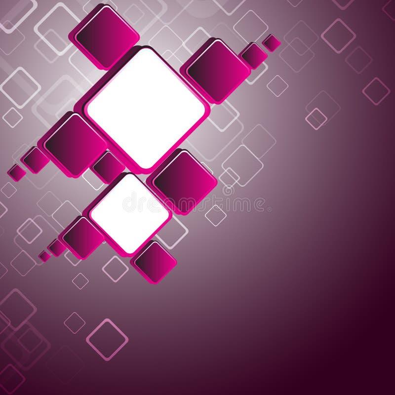 Fundo quadrado cor-de-rosa abstrato ilustração royalty free
