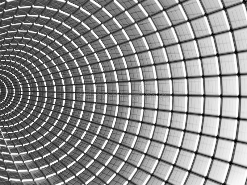 Fundo quadrado de alumínio do sumário do teste padrão ilustração do vetor