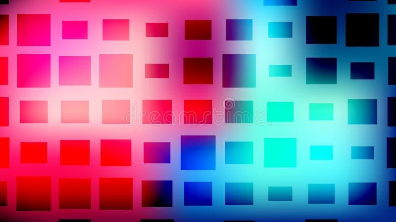 Fundo quadrado de intervalo mínimo colorido Cartão abstrato moderno do inclinação ilustração stock