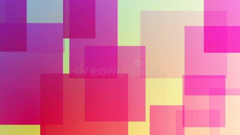 Fundo quadrado desarrumado colorido Cartão abstrato moderno do inclinação ilustração do vetor