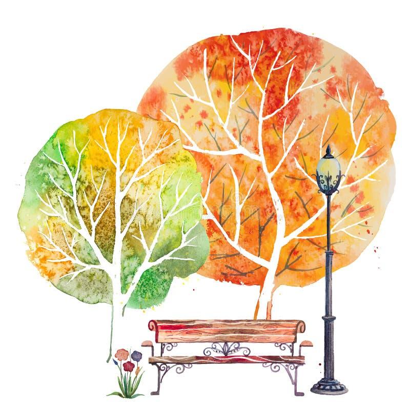 Fundo quadrado do outono ilustração stock