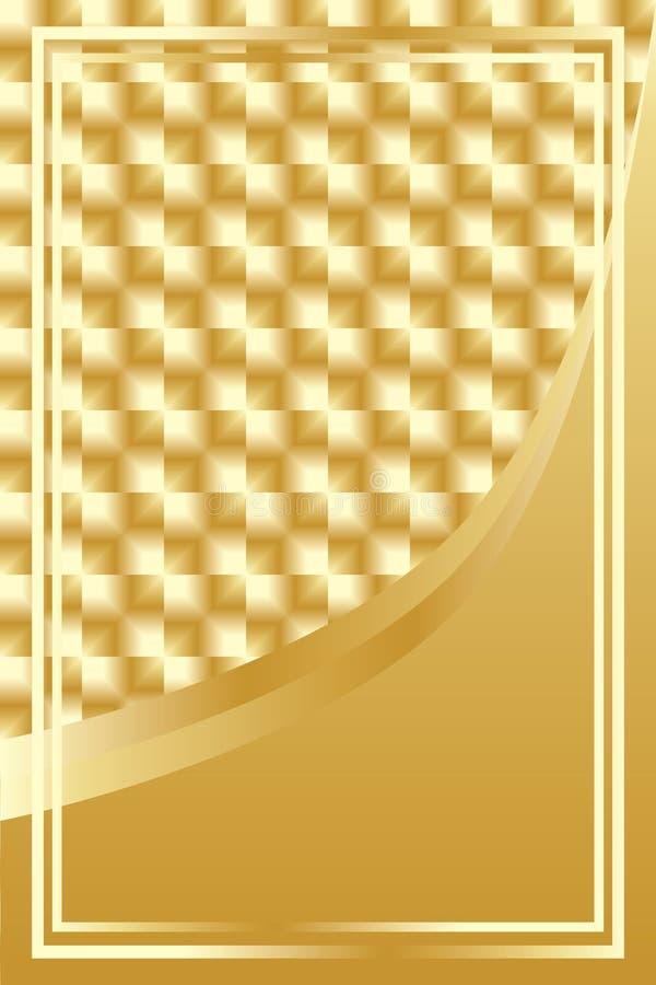 Fundo quadrado dourado luxuoso