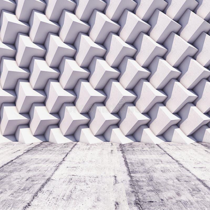 Fundo quadrado geométrico abstrato do ilustração royalty free