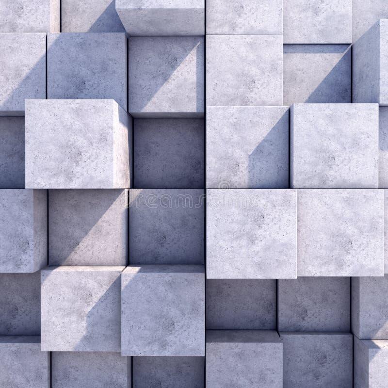 Fundo quadrado geométrico abstrato do ilustração stock