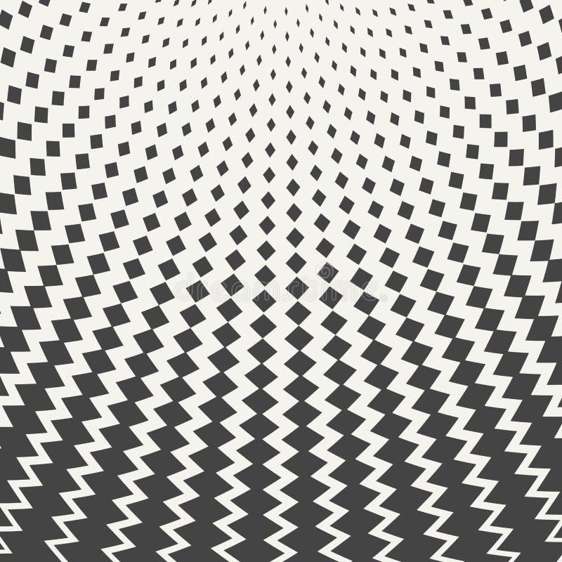 Fundo quadrado preto do projeto do teste padrão da malha do sumário ilustração stock