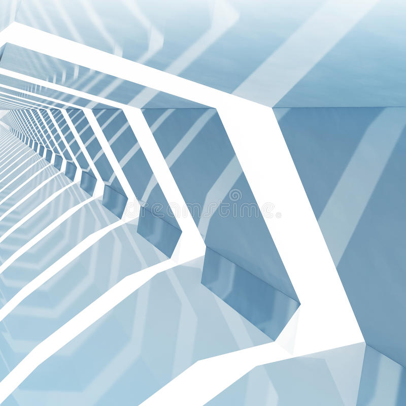 Fundo quadrado tonificado azul abstrato 3d do cg ilustração stock