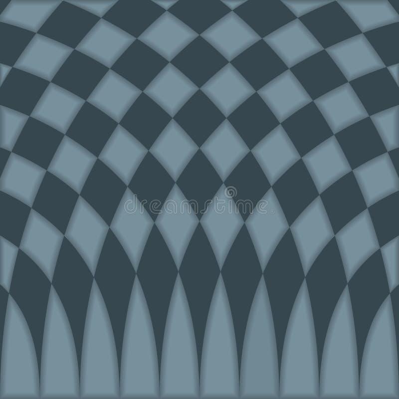Fundo quadriculado azul abstrato do teste padrão ilustração do vetor