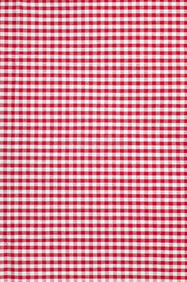 fundo quadriculado da textura da toalha de mesa imagens de stock royalty free