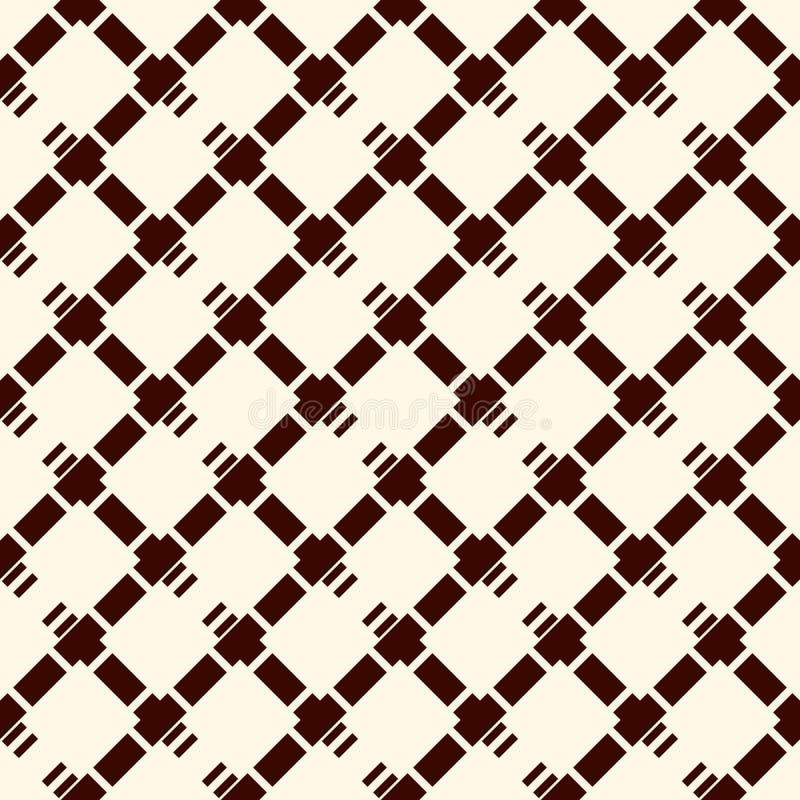 Fundo quadriculado do diamante O teste padrão de superfície sem emenda com a diagonal repetida cruzada chocou linhas Papel de par ilustração do vetor