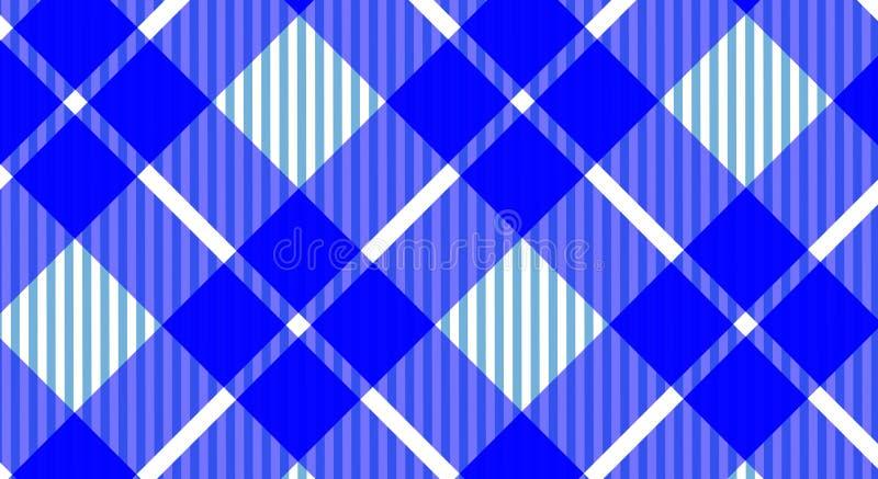 Fundo quadriculado do guingão azul e branco da toalha de mesa Textura f foto de stock