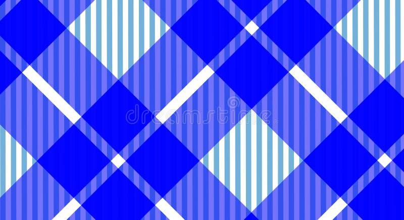 Fundo quadriculado do guingão azul e branco da toalha de mesa Textura f imagens de stock