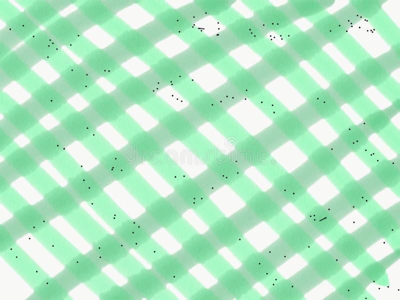 Fundo quadriculado do verde do sum?rio com pontos pretos ilustração do vetor