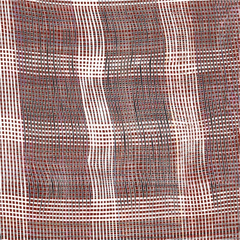 Fundo quadriculado do weave com o estreptococo preto e branco do grunge ilustração royalty free