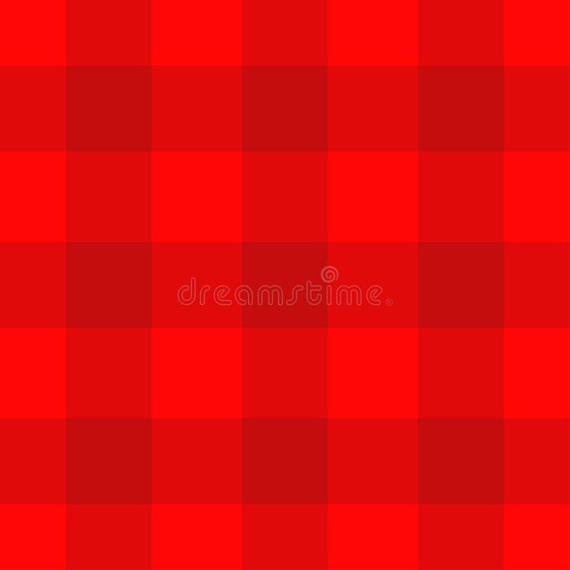 Fundo quadriculado vermelho da toalha de mesa do teste padrão textura da tela da manta Cobertura do piquenique Molde romântico do ilustração do vetor