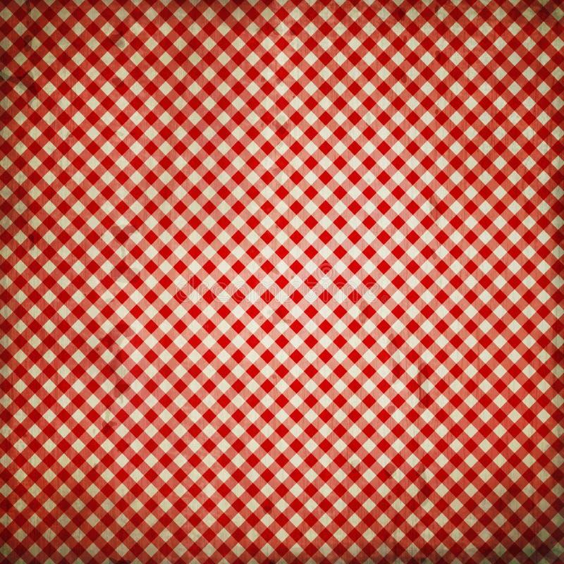 Fundo quadriculado vermelho do Grunge fotografia de stock