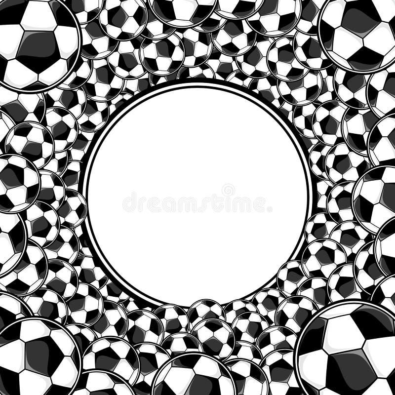 Fundo quadro círculo das bolas de futebol ilustração royalty free