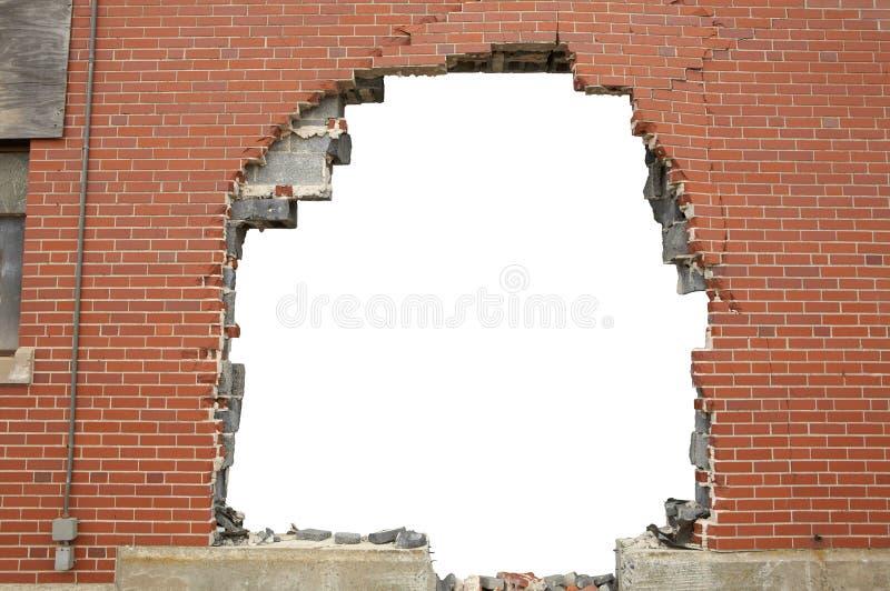 Fundo quebrado do brickwall imagem de stock