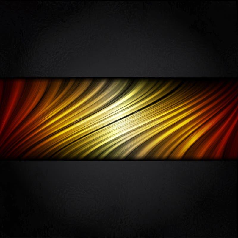 Fundo quente das listras das cores com quadro preto ilustração royalty free