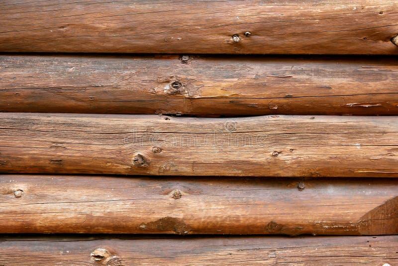 Fundo rústico da parede da cabana rústica de madeira imagens de stock