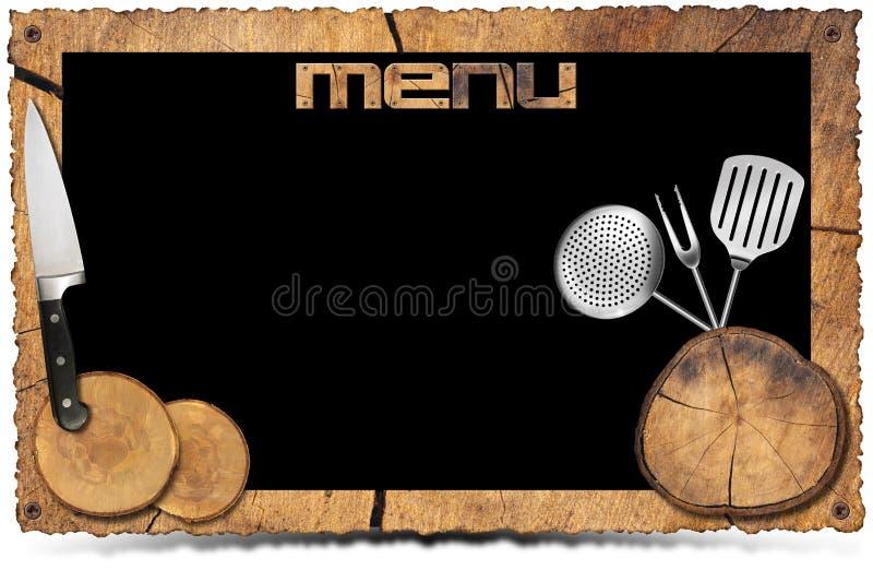 Fundo rústico do menu - quadro da foto ilustração do vetor