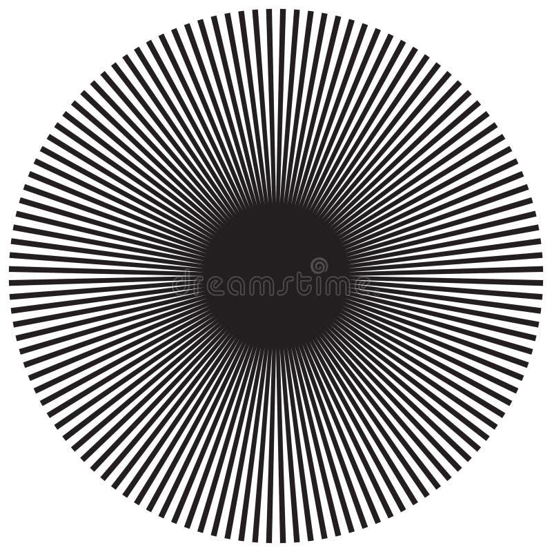 Fundo radial abstrato do raio do sunburst no formato do vetor ilustração do vetor