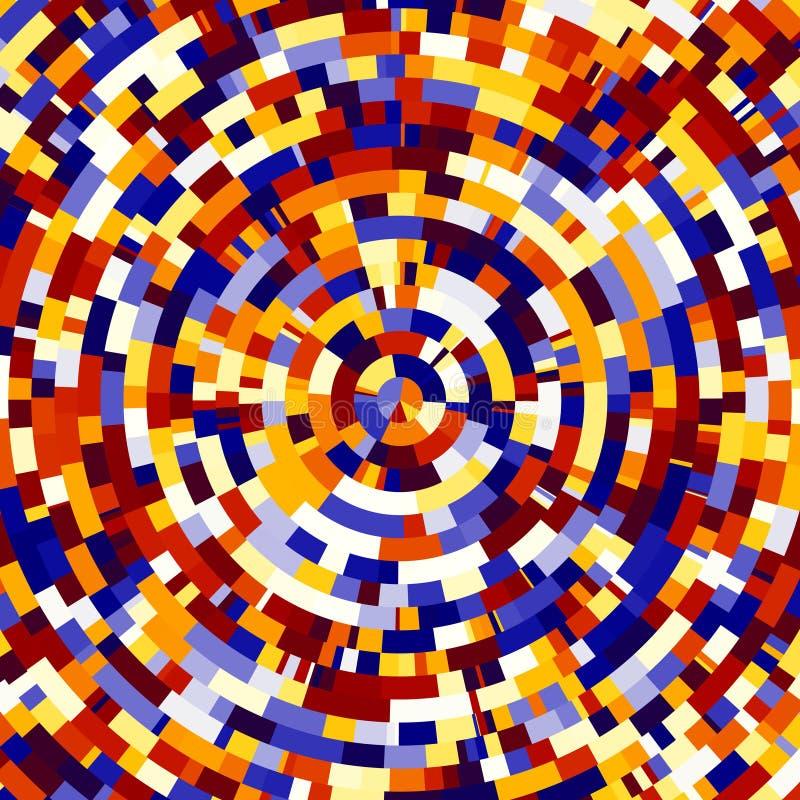 Fundo radial colorido ilustração do vetor