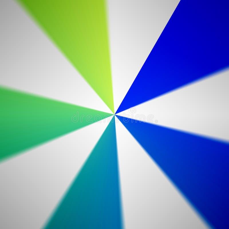 Fundo radial multicolorido do sumário do teste padrão ilustração do vetor