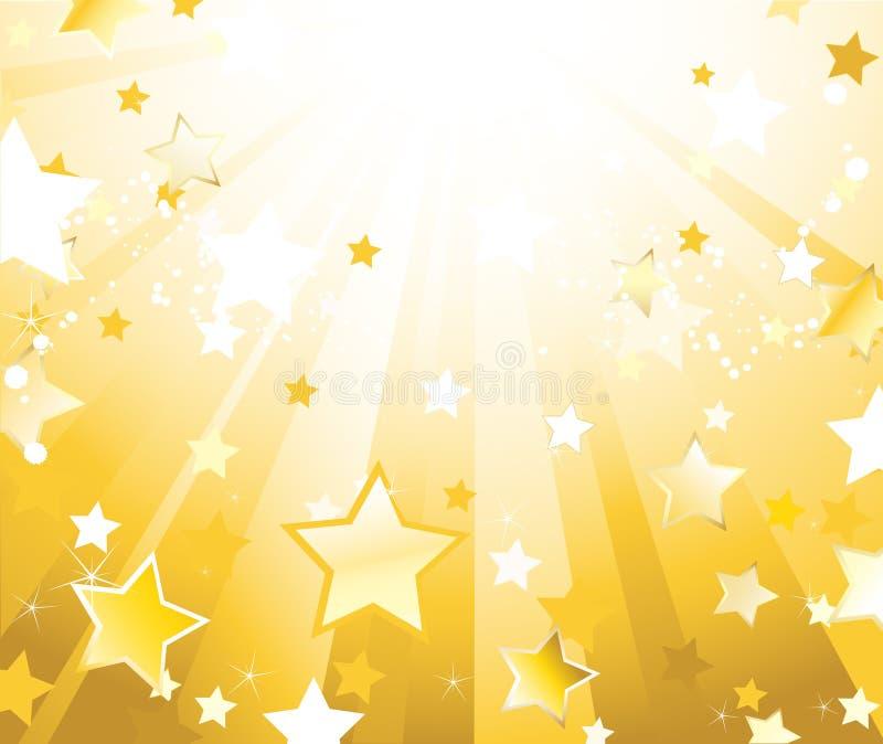 Fundo radiante com estrelas ilustração do vetor
