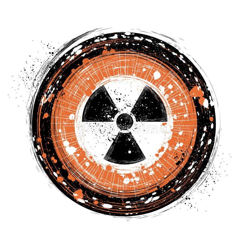 Fundo radioativo ilustração stock