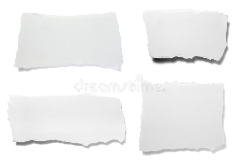 Fundo rasgado da mensagem da nota do Livro Branco foto de stock royalty free