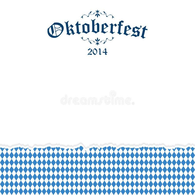 Fundo rasgado de Oktoberfest do papel com texto Oktoberfest 2014 ilustração stock