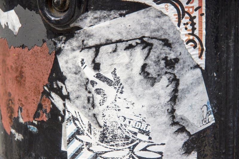 Fundo rasgado do papel e da oxidação imagem de stock