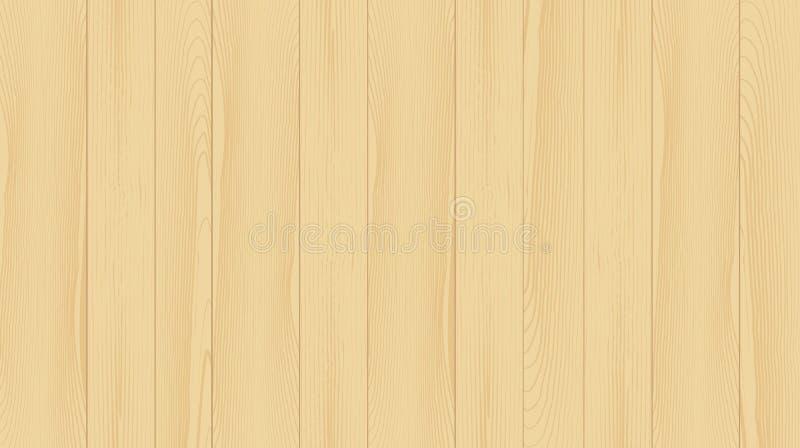 Fundo realístico das pranchas de madeira Textura bonita de ilustração stock